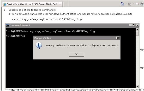 MSDE install error